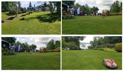 Swedish Residence Grounds in Rockcliffe Park Ottawa Auto Mower YARMAND